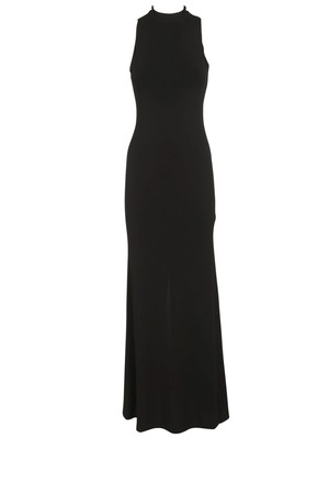 Alice Olivia Sleeveless Dress From Alice And Olivia Black Sleeveless Dress With Turtleneck Slim Fit And Concealed Back Zip Fastening