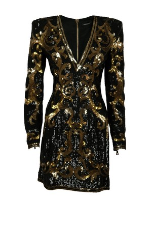 Balmain Balmain Baroque Pattern Dress