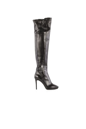 Jimmy Choo Jimmy Choo Black Leather Boots