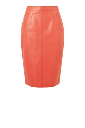 Jaeger London Leather Pencil Skirt