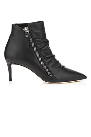 Jimmy Choo Dayton 65 Black Calf Leather Ankle Booties