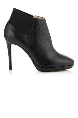 Jimmy Choo Talula 100 Black Leather Ankle Booties