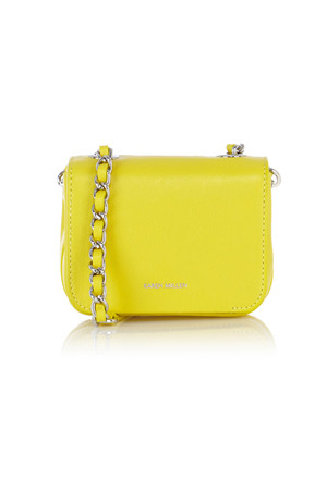 Karen Millen Mini leather bag with chain handle