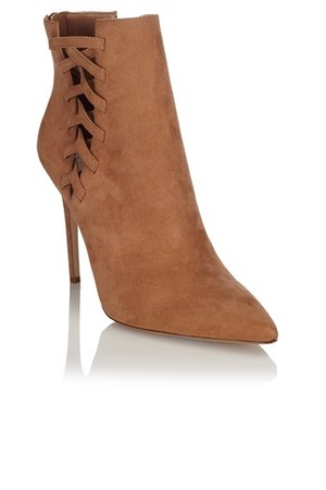 Aldo Criss Cross Pointed Ankle Boots