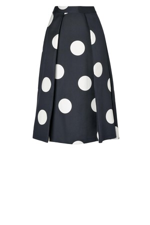 LK Bennett Joey Printed Full Skirt Printed Navy