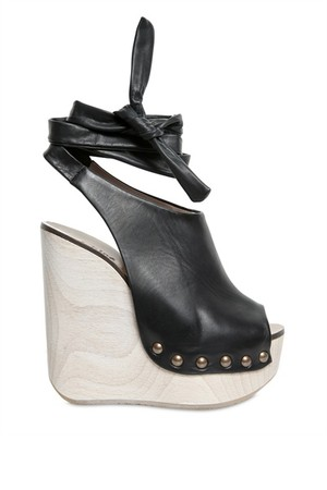 Chloe 140mm Leather Ankle Strap Open Toe