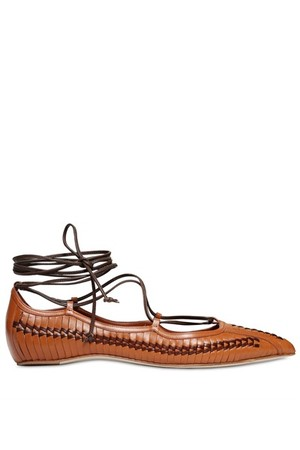Daniele Michetti 10mm Woven Leather Flats
