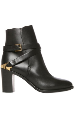 Fratelli Rossetti 80mm Belted Calf Leather Ankle Boots