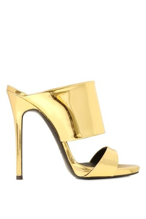 Giuseppe Zanotti 120mm Mirror Leather Mule Sandals