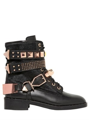 Ivy Kirzhner 40mm Leather Ponyskin Belted Boots