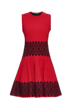 Alexander Mcqueen Contrast Panel Stretch Knit Dress