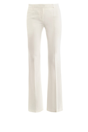 Alexander Mcqueen Leaf Crepe Bootcut Trousers