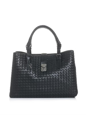 Bottega Veneta Roma Intrecciato Leather Tote