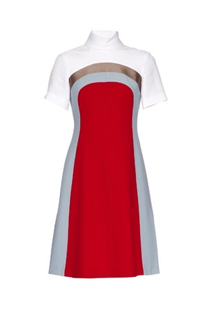 Jonathan Saunders Nico Colour Block Crepe Dress