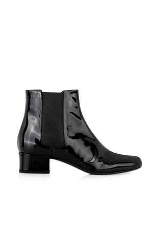 Saint Laurent Babies Patent Leather Chelsea Boots