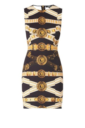 Versus Iconic Belt Print Scuba Dress