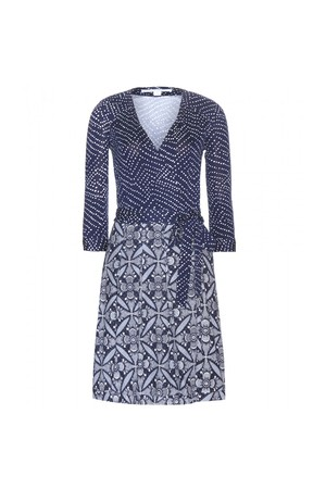 Diane von Furstenberg Jewel Printed Wrap Dress