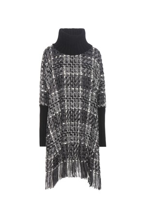 Dolce and Gabbana Wool Cashmere And Cotton Blend Poncho
