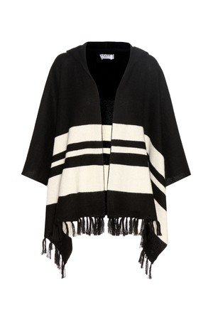 Frame Le Hooded Striped Alpaca Poncho