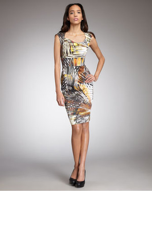Black Halo Catherine Printed Sheath Dress