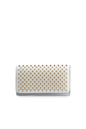 Christian Louboutin Macaron Flap Wallet with Spikes