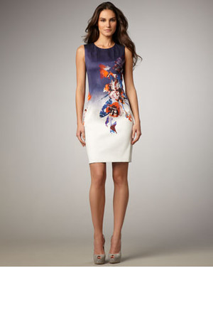 Elie Tahari Emory Printed Dress