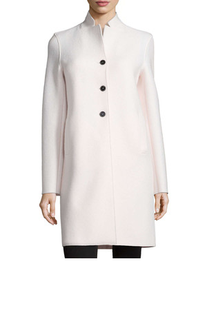 Harris Wharf London Double Face 3 Button Wool Coat