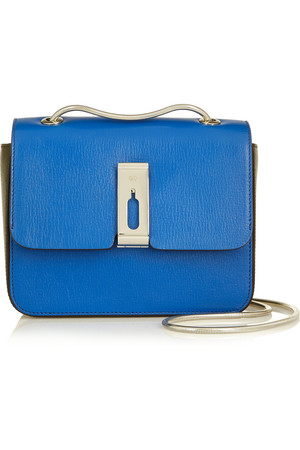 Anya Hindmarch Albion Small Two Tone Leather Shoulder Bag