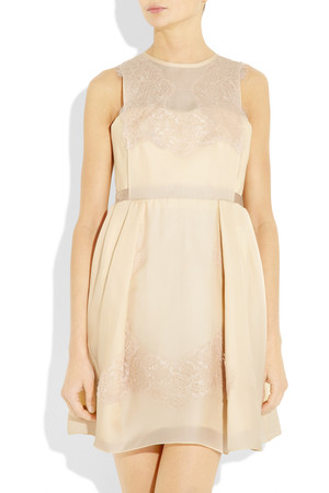 Carven Lace And Silk Organza Twill Dress