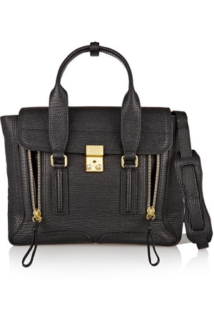 31 Phillip Lim The Pashli Medium Textured Leather Trapeze Bag Intl Shipping