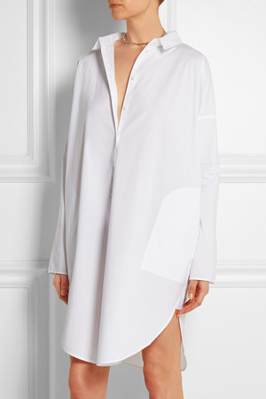 Acne Studios Lash Tech Oversized Cotton Poplin Shirt Dress Intl Shipping