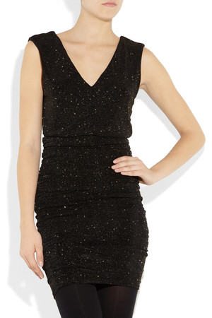 Alice Olivia Glitter Finish Stretch Jersey Dress Intl Shipping