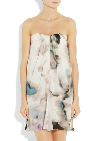 Alice Olivia Printed Silk Chiffon Dress Intl Shipping