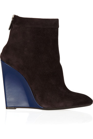 Bottega Veneta Color Block Suede Ankle Boots Intl Shipping