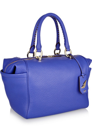 Diane Von Furstenberg Sutra Bold Textured Leather Tote Intl Shipping from Net A Porter Intl