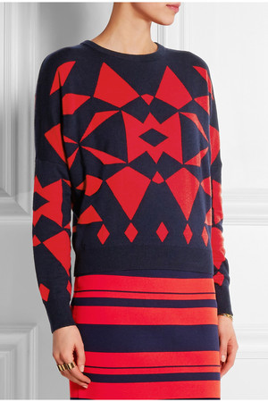 Dkny Intarsia Knitted Sweater Intl Shipping