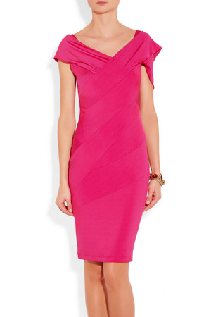 Donna Karan Draped Stretch Sateen Jersey Dress Intl Shipping