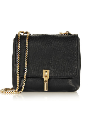 Elizabeth And James Cynnie Mini Textured Leather Shoulder Bag Intl Shipping
