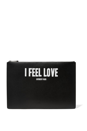 Givenchy Large Pouch In Printed Black Leather Intl Shipping