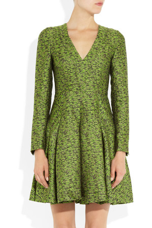 Jonathan Saunders Sigrid Silk And Wool Blend Dress Intl Shipping