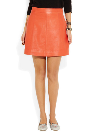 Marc By Marc Jacobs Jett Leather A Line Mini Skirt Intl Shipping
