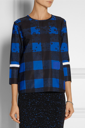 Preen Line Coley Printed Crepe De Chine Top Intl Shipping