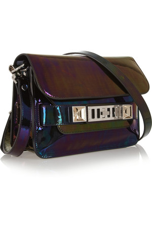 Proenza Schouler The Ps11 Mini Holographic Patent Leather Shoulder Bag Intl Shipping