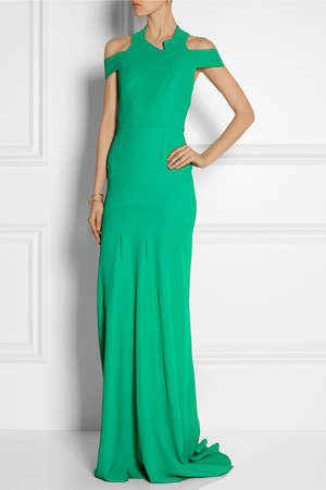 Rachel riley green dress at the baftas by roland mouret for Net a porter usa