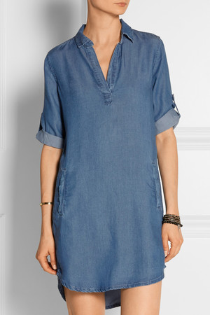 Splendid Washed Twill Shirt Dress Intl Shipping
