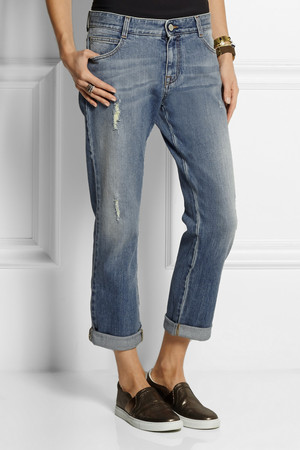 Stella Mccartney Tomboy Distressed Low Rise Boyfriend Jeans Intl Shipping