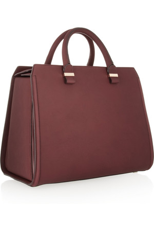 Victoria Beckham Victoria Structured Leather Tote Intl Shipping