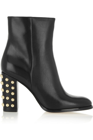 Michael Michael Kors Linden Studded Leather Ankle Boots