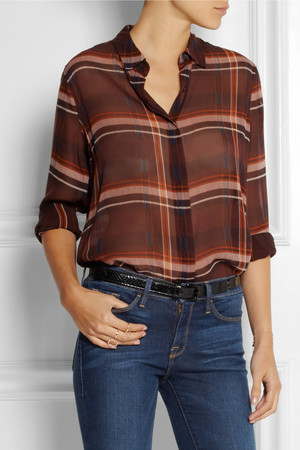 Mih Jeans The Oversized Plaid Silk Shirt