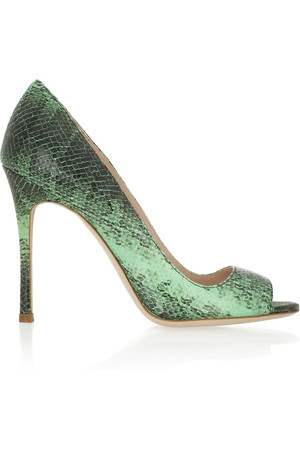 Miu Miu Snake Effect Leather Pumps